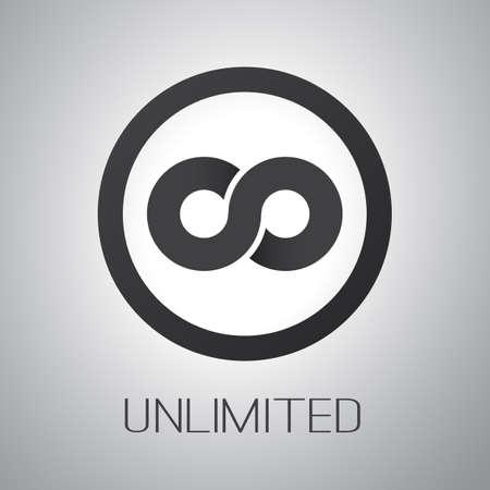 Unbegrenzte Symbol Symbol oder Icon Design Standard-Bild - 39893287