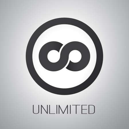 infinity icon: Unlimited  Symbol Icon or icon Design
