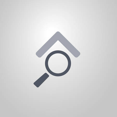 Real Estate Icon Design Looking for a House for Sale  Flat Symbol