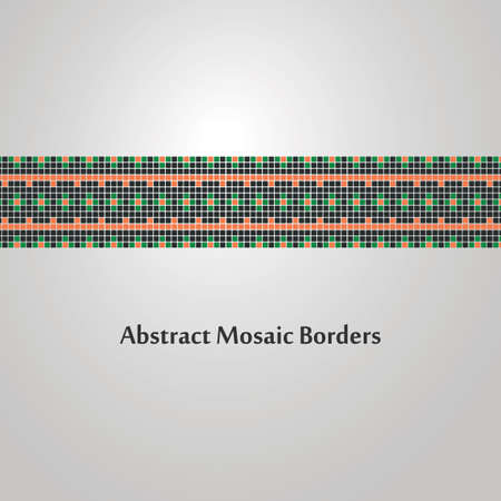 Abstract Colorful Mosaic Border Design  Decoration Element Vector