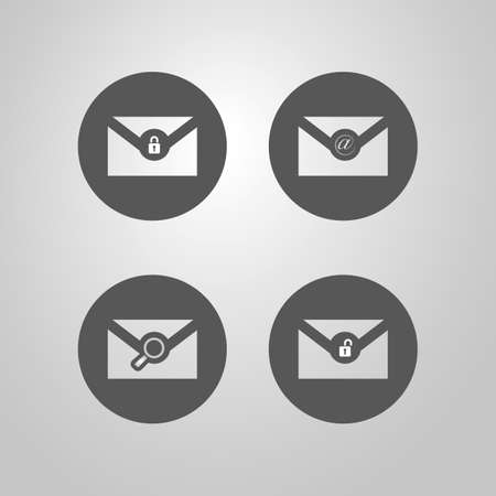Set of Email Icon Designs for Web Vector