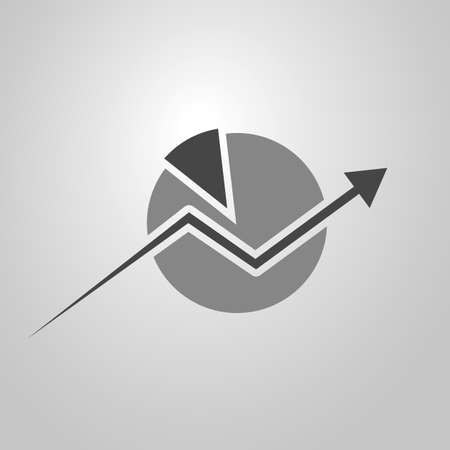 Business Analysis Symbol Concept with Pie Chart Icon Vector