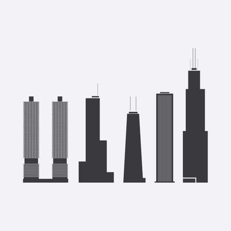 tower block: Collection of Skyscraper Icons