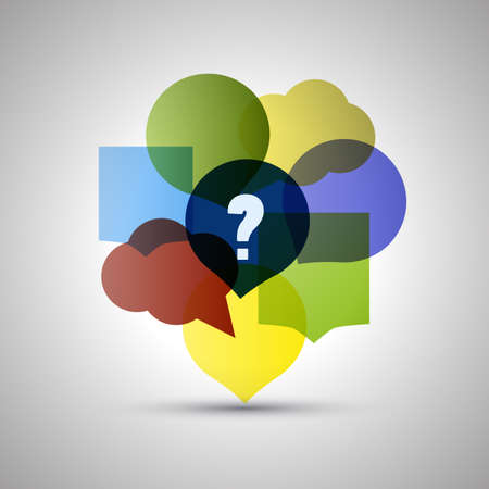 think big: Question and Answer  Colorful Speech Bubbles with Copy Space