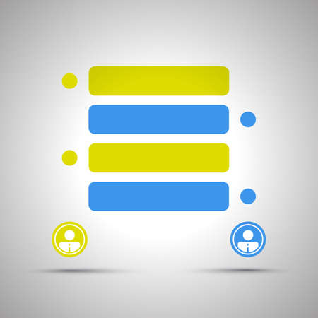 Chat Conversation Design Concept  Colorful Speech Bubbles with Copy Space Vector