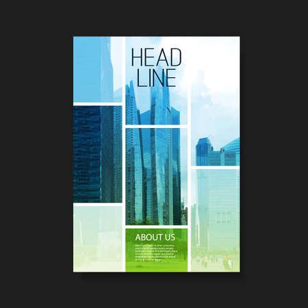 Flyer of Cover Design met Wolkenkrabbers