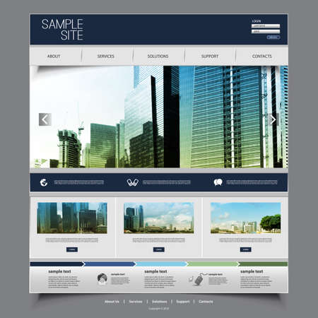 Website Design for Your Business with Skyscraper Background Vector