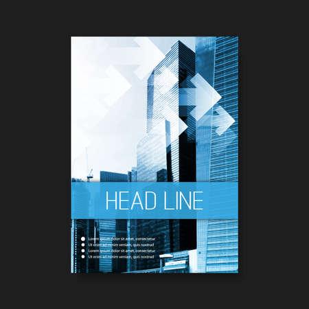Flyer oder Cover-Design-Vorlage Geschäfts Corporate Identity