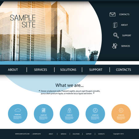 for design: Website Design for Your Business with Skyscraper Background