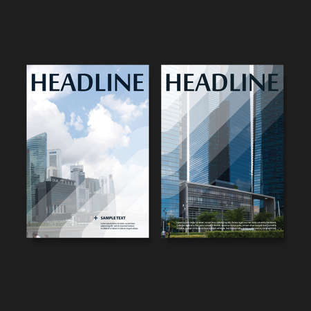 Flyer of Cover Design Set voor uw bedrijf Stock Illustratie