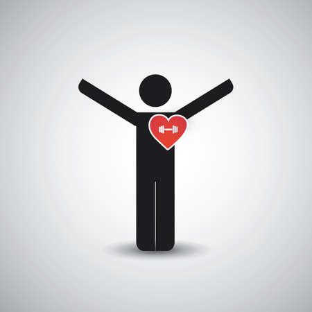I Love Gym  Icon Design Çizim
