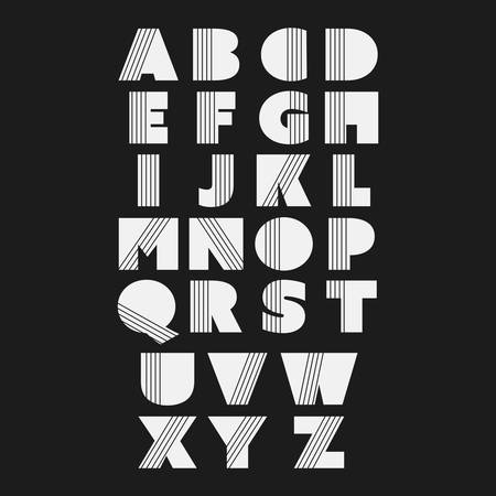 Art Deco Font Set  Vintage Vector Design  Retro Typography