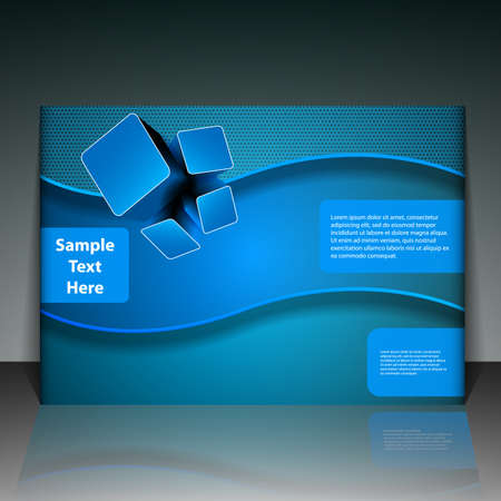 blue metallic background: Flyer or Cover Design