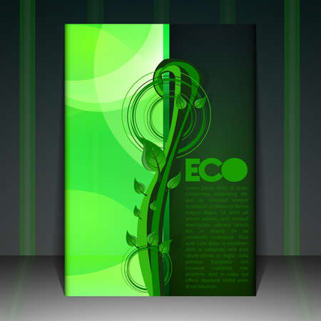Eco Flyer or Cover Design Vector