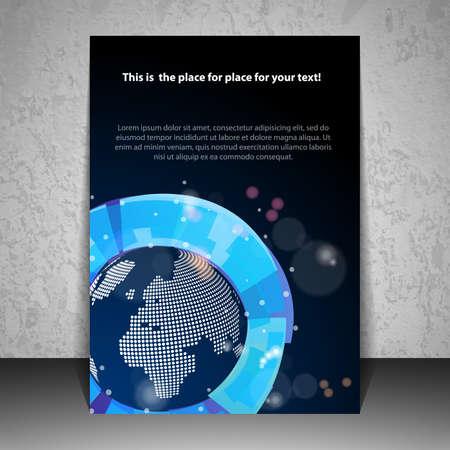 blue design: Business Flyer or Cover Design Illustration