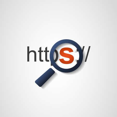 HTTPS-protocol Veilig en vertrouwd Stock Illustratie