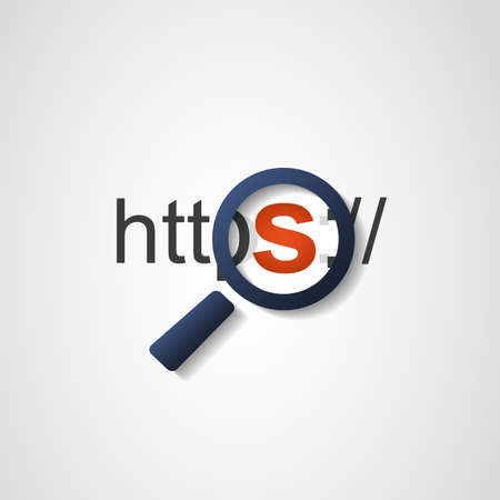 HTTPS Protokoll Sichere Standard-Bild - 41501471