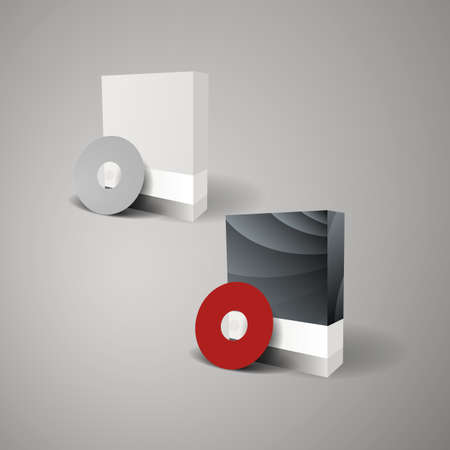 Blank Box Design with Disk