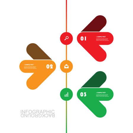 Progettazione minima di cronologia del modello di Infographic moderno di affari