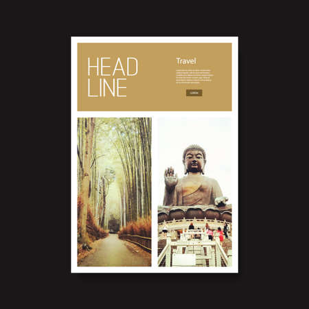 hong kong street: Flyer or Cover Design with Oriental Theme
