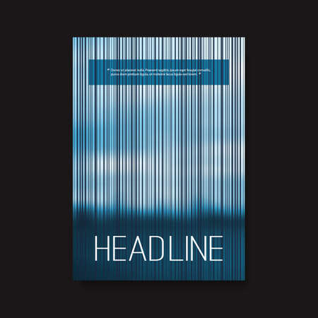 striped background: Flyer or Cover Design with Striped Background