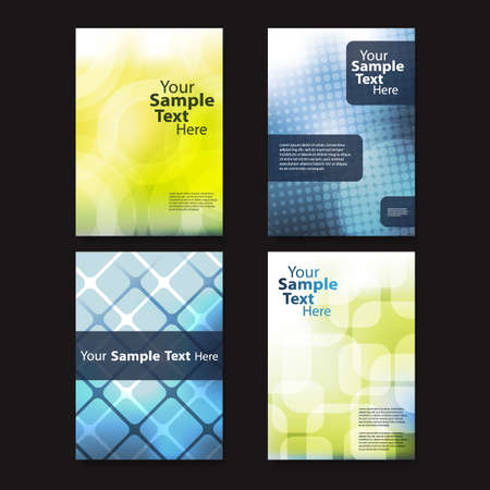 book cover: Flyer or Cover Design Set with Abstract Pattern