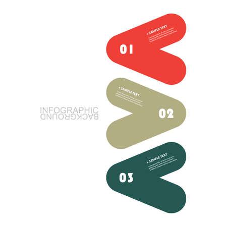 rounded: Modern Business Infographic Template - Minimal Timeline Design Illustration