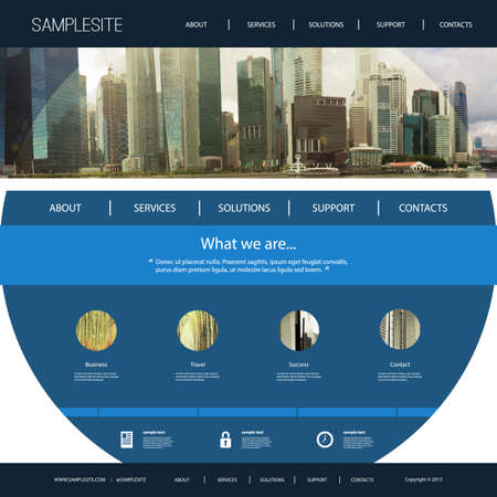 page design: Website Template with Unique Design - Singapore Skyline