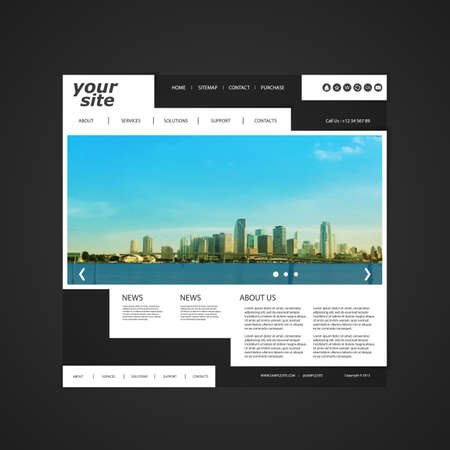 photo gallery: Website Template with Unique Design - Miami Skyline