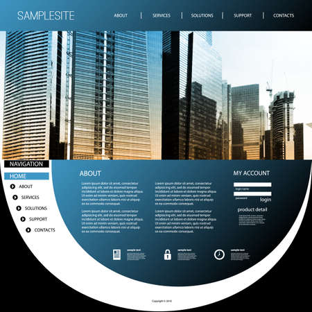 original: Website Template with Unique Design - Cityscape Skyline
