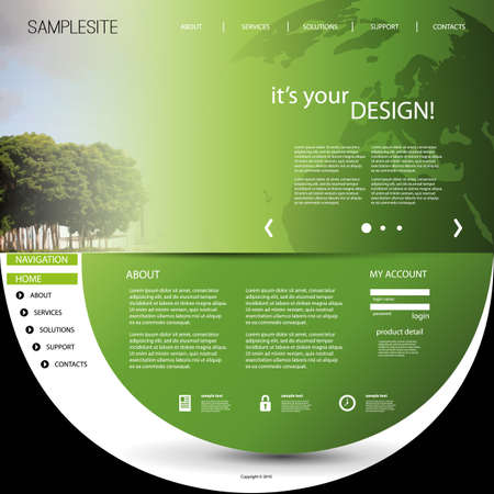 the thick forest: Website Template with Unique Design