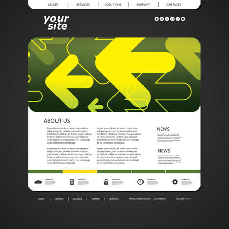 sticker design: Abstract and Unique Business Website Design Template with Arrows