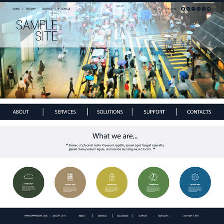 for design: Website Design for Your Business with Walkway Header Background