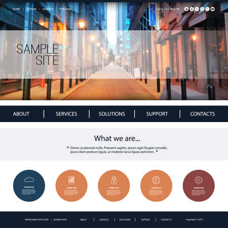 page layout: Website Design for Your Business with Walkway Header Background