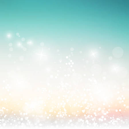 abstract christmas: Sparkling Cover Design Template with Abstract Blurred Background
