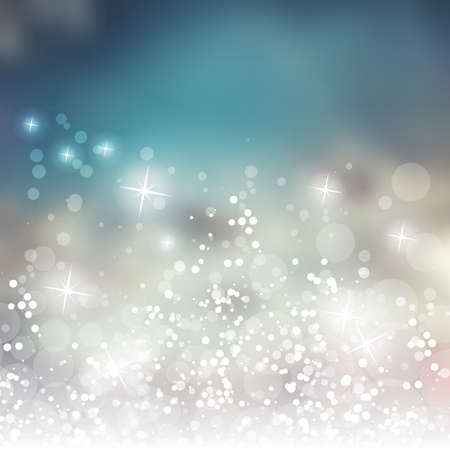 silver texture: Sparkling Cover Design Template with Abstract Blurred Background