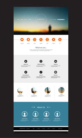 white clouds: One Page Website Template with Blurred Background