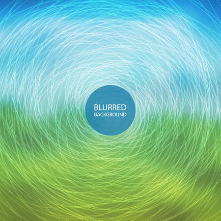 barker: Abstract Background with Blurred Image and Swirly Lines Illustration