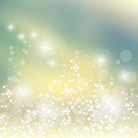 cloud background: Sparkling Cover Design Template with Abstract Blurred Background