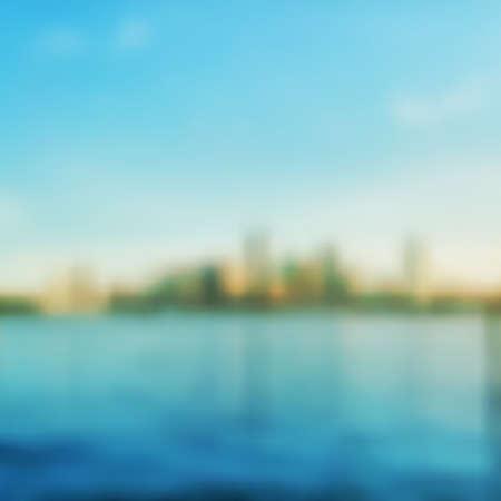 barker: Abstract Background - Blurred Image - Cityscape Skyline Illustration