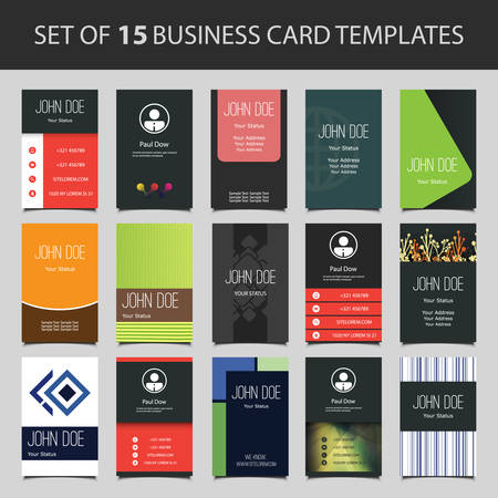 address: 15 Colorful Vertical Business Cards