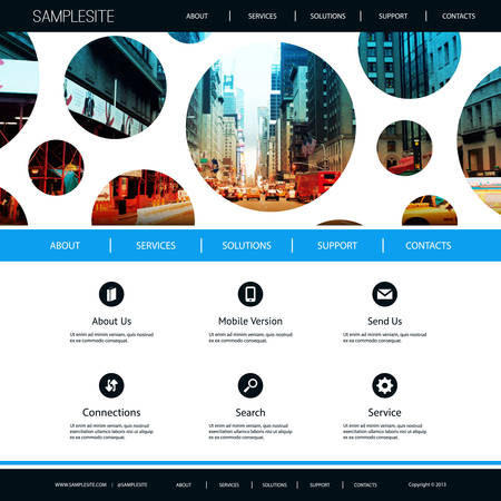 pitted: Website Design for Business with City Street Image Background Illustration