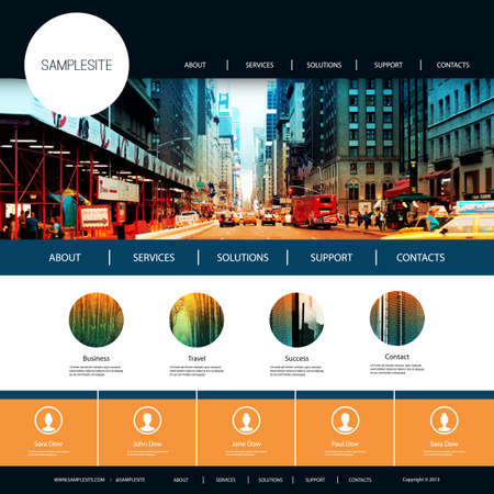 city street: Website Design for Your Business with City Street Image Background Illustration