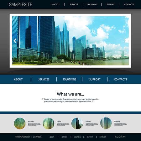 singapore skyline: Website Template with Unique Design - Singapore Skyline