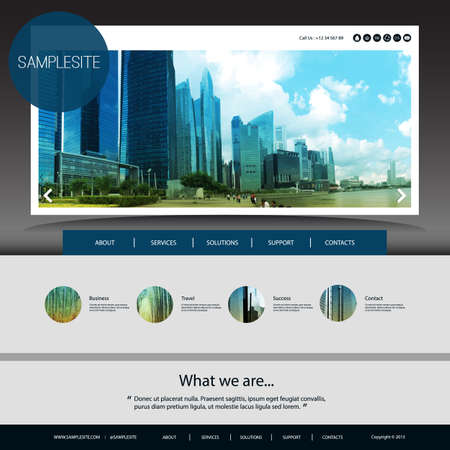 website design: Website Template with Unique Design - Singapore Skyline