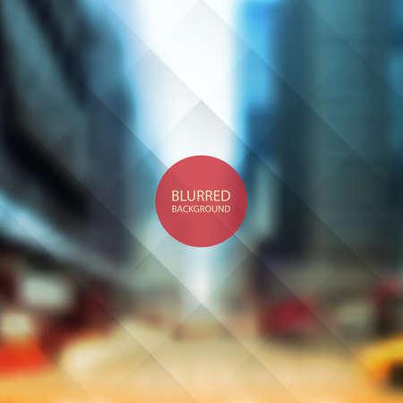 barker: Abstract Background - Blurred Image of Street Illustration