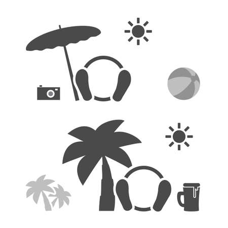 lay down: Beach Time - Emoticon Set