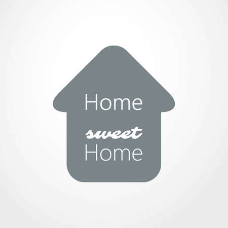 home icon: Home, Sweet Home - House Icon Design Illustration