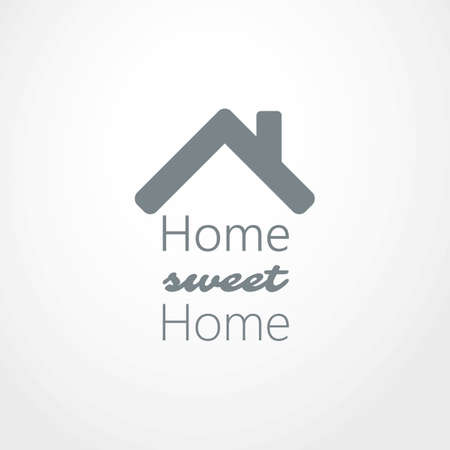 Home, Sweet Home - Maison toit Icon Design Banque d'images - 43705132