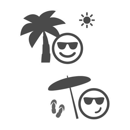 paradise beach: Beach Time - Emoticon Set